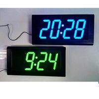 Precio de Grandes relojes de pared azul-DHL liberan el reloj grande decorativo grande de la decoración 3D del hogar del diseño del reloj de pared de Digitaces LED del envío libre grande ROJO / BLUE / GREEN