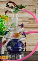 atmospheric water - To send gifts atmospheric dragon glass Hookah style color random delivery Glass bongs glass water pipe smoking pipe smoking grinder