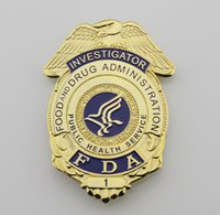 administration services - Replica police cop metal badge high quality US FDA food and d r u g administration investigator Replica metal badge public health service