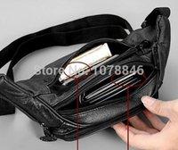 belting leather luggage - Luggage Bags Waist Packs New men Bag Vintage genuine leather cowhide men waist sports bags Tactical outdoor travel belt wallets Black