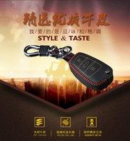 Wholesale Audi A6L key button Q3 A3 hand stitched leather key bag A4L key set Q5 A1