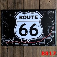 Cheap [ Sun86 ] ROUTE US 66 Metal Painting Wall Bar Home Art Decor Cuadros Mix Order 30X20CM A-8817