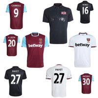 Wholesale 2016 West Ham United Jerseys CARROLL PAYET ZARATE KOUYATE Maillot de foot Home red away White TIWFC COMMEMORATIVE football shirts
