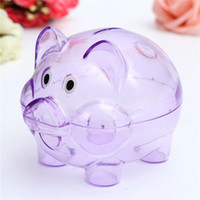 best case money - Interesting Cute Plastic Pig Clear Piggy Bank Coin Box Money Saving Case Kids Toy Best Gift