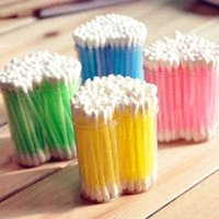 Wholesale 5 pieces girl Makeup cotton Swab Cotton Bud Cosmetic Tool pp Sticks colors used for ears makeup removing makeup