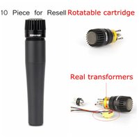 Wholesale 10PCS Rotatable cartridge Real Transformer Best quality SM LC LC Clear Sound Wired Instrument Microphone