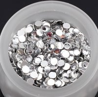 acrylic pc case diy - 8MM Round D Acrylic Flatback Rhinestone Art Facet Strass Crystal Beads Gems Chaton DIY Phone Case Nail deco Supplies
