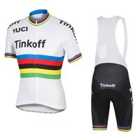 Wholesale 2016 UCI World tour champion team tinkoff saxo bank pro breathable cycling jerseys short sleeve Quick Dry bike Racing ropa ciclismo GEL pad