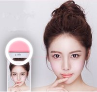 Wholesale phone light ring Led Camera Phone Ring Light Enhancing Photography for Smartphone iPhone Samsung Pink White Selfie Portable Flash