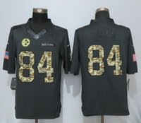 Wholesale Brown Steelers Mens Anthracite Salute To Service Limited Jersey Stitched Jerseys Free Drop Shipping lymmia