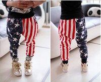 Wholesale 2016 kids Boys American flag Pants AB star stripe Flags Pant trousers Baby Spring Long leggings Pants Cool Baby children fashion