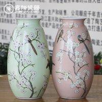 Wholesale New Arrival hand painted Ceramic table vase for wedding living room Porcelain flower vases