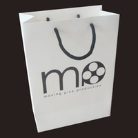 Wholesale 200pcs cm Make luxury white paper bag wedding decorative hand bags shopping bag includ one color simple print