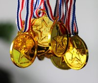 Wholesale 100pcs Children Gold Plastic Winners Medals Sports Day Party Bag Prize Awards Toys For party decor