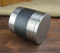 Wholesale stainless steel metal travel caddy tea food kitchen canisters cotton tank cylindrical sundries Storage Bottles
