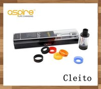 Wholesale 100 Authentic Original Aspire Cleito Tank kit Clearomizer Stainless Black with Airflow Control Systerm ML Genuine Aspire Cleito Tank