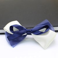 Wholesale Blue hair pin ribbon butterfly hairbands student barrette party performance hair accessary korea fashion