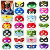 Felt Bauta Mask Birtyday Superhero Mask Halloween Cosplay Costume Masks Superman Batman Spiderman Captain America Felt Mask For Kids Adults