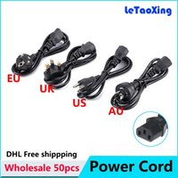 1.2 meter Dual Power & Video Cable  50pcs AC Power Cord Cable Desktop Monitor Computer Universal 3 Prong EU UK US AU Cord 1.2M DHL Free shipping