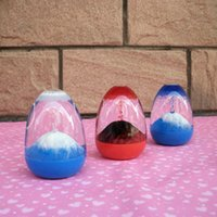 Wholesale Eggshell egg shaped volcanic eruptions quicksand creative crafts ornaments hourglass student Toys