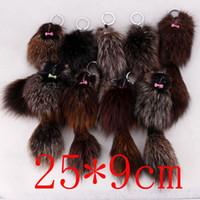 Wholesale Hot Sale Cute Genuine FOX Fur mouse Plush Key Chain For Car Key Ring Bag Pendant Car Keychain