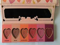 Wholesale Hot Selling New Makeup Face Love Flush Blush Wardrobe Heart Shaped Palette Colors Blush