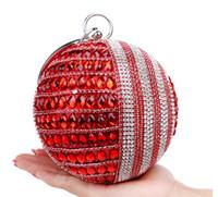 Wholesale New Fashion Handbag For Women Bag Shine Bride Clutch With Hard Box Party Purse Wallet Makeup Kit Cross Body Bags