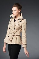 Wholesale HOT new women fashion brand short style trench jacket top quality british designer slim short jacket women short jacket F240A5279 size S XXL