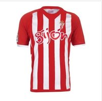 Wholesale NEW Sporting Gijon Home Shirt football red Away Soccer Jersey Sporting Gijon shirt Thai quality Free delivery