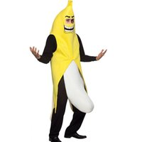 banana adult costume - Men Cosplay Adult Fancy Dress Funny sexy Banana Costume novelty halloween Christmas carnival party costume