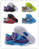 basketball flash - With Box Cheap New Kd7 VII Cheap Mens Basketball Shoes kd Purple red black Grey blue Lightning Thunder Sneakers Flash colors