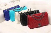 Wholesale NEW woman s bag Fashion shoulder Aslant Ling plaid Bag chain handbag