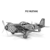 Wholesale In business DIY P Mustang D three dimensional puzzle metal simulation model Metallic puzzle Metallic Nano Puzzle INBTG3P001