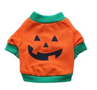 T Shirts Spring/Summer Halloween Pet clothes Dog clothing dog clothes Halloween  costumes orange pet