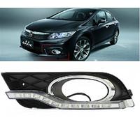 auto retrofit - Auto Tech LED Daytime Running Light fog lamp Retrofit Car LED DRL kit For Honda Civic Sedan Ninth Generation