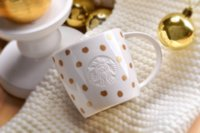 avatar stock - Christmas Starbucks Golden dots coffee Mug for coffee milk Dot Collection Series Mermaid Avatar white ceramic cup ML with gift box
