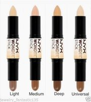 Wholesale 2016 New Wonder stick highlights and contours shade stick Light Medium Deep Universal NYX concealer
