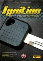 Wholesale Ignition key through anything DVD Gimmick Magic Trick made in China trick mental Magic trick