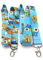 adventure time badge - Hot Sale Adventure Time Blue Lanyard Key Chain Jake and Finn ID Badge Holder Protector quot