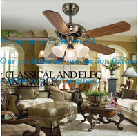 Wholesale LED European retro style ceiling fans lamp warranty years