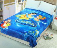Wholesale Soft Blanket Cinderella kids Children s Cartoon Blanket Fleece Blanket Sofa Bed Plane Travel Plaids