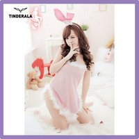 Wholesale Sexy Mermaid Costume Sexy Police Bunny Costume Sleeveless V neck Low Bosom woman costume Red easter Bunny Costume Free size