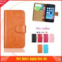 aqua smartphone - New arrrive Colors Intex Aqua Eco G Phone Case Dedicated Leather Protective Cover Case SmartPhone with Tracking
