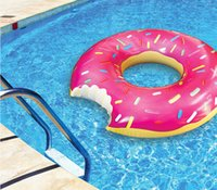 Wholesale 2016 New Fashion Gigantic Donut Pool Inflatable Floats pool toys Swimming Float Pool Floats inflatable donut Swim Ring Summer Water Toy GY65