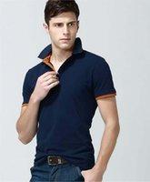 Wholesale Summer Casual Men s T Shirt Lapel T Shirt Men s Short Sleeved T Shirt Shirt Shirt Polos Lowest Price