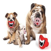 Wholesale 2016 Funny environmental Dog Toys Pet Puppy Chew and Squeaky Pet Toys Bite Resistant Rubber Toy halloween toys Pig Nose Devil s lip