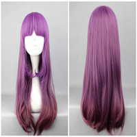 Long Boy Under $30 HAIRJOY 65cm Long Famous Color Mixed Lolita Style Wavy Purple Hair Cute Cosplay Wig Free Shipping