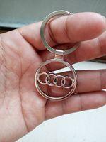 audi rings emblem - Emblem Toyota Key Chain Ring High Grade Car Logo Keychain Keyring Metal Zinc Alloy Llaveros Chaveiro For Toyota Key Holder