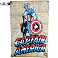 aa items - Mike86 Captain America Metal Poster PUB Room Hall Decor Vintage Sticker Wall Painting Art CM Mix Items AA