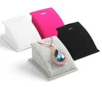 Wholesale Velvet necklace display rack pendant holder show necklaces display shelf mini pendants stand decoration sets display stand